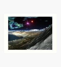 Evening on Planet H Art Print