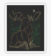 Canadian Bull Moose Sticker