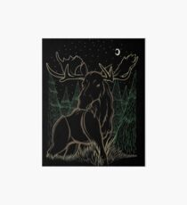 Canadian Bull Moose Art Board