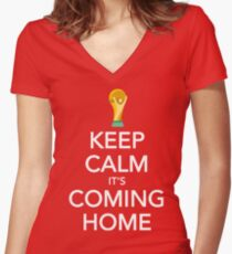 Keep Calm, It's Coming Home Fitted V-Neck T-Shirt