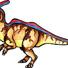 Cute Parasaurolophus  by DelythThomasArt
