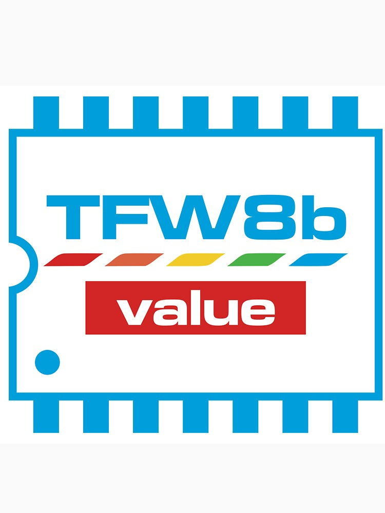 The Future Was 8 Bit Value Range Logo by tynemouthsw