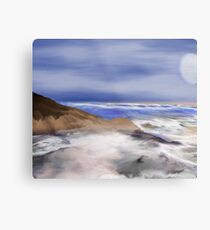Brushstrokes of the Sea Metal Print