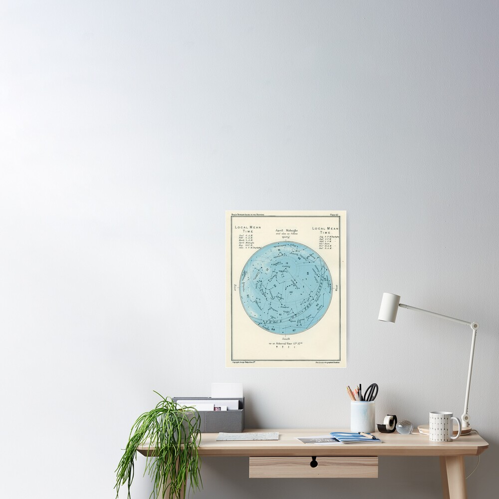 Star map Poster