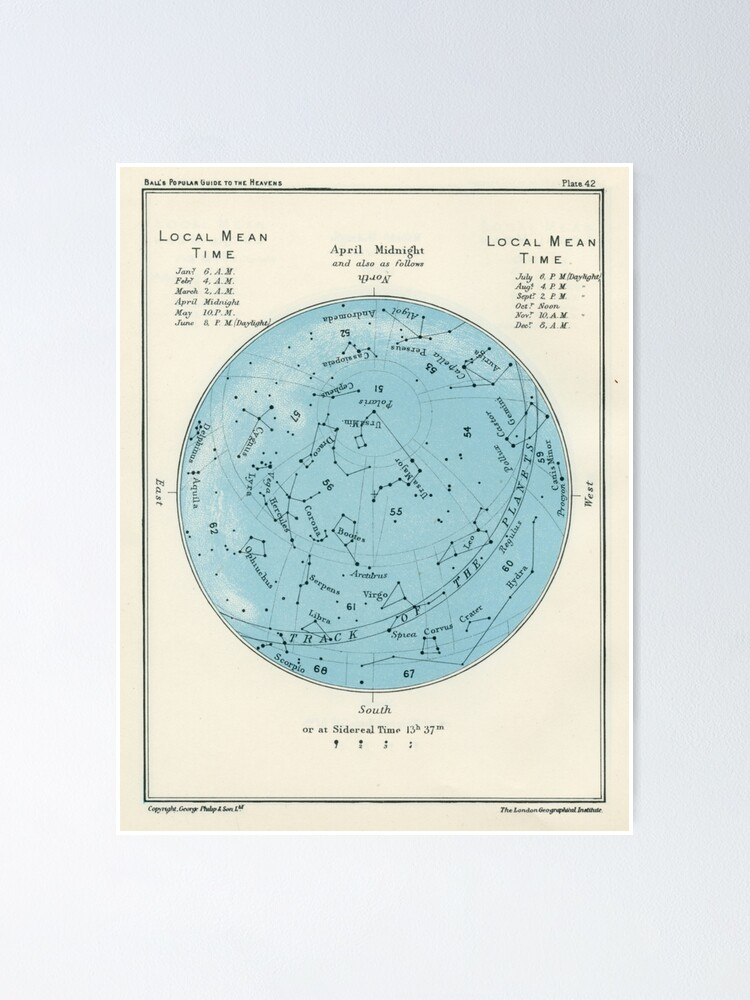Alternate view of Star map Poster
