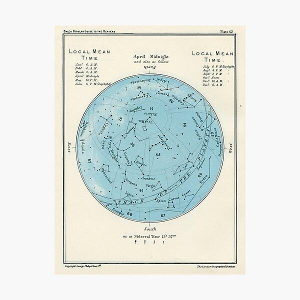 Star map Photographic Print