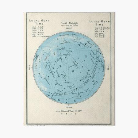 Star map Art Board Print