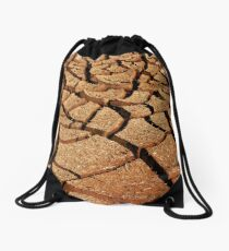 Dry cracked mud Drawstring Bag