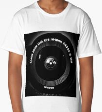 Canon Lens Front On Long T-Shirt