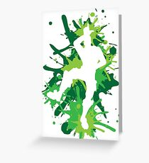 Gaming - L Dance Move - Green Greeting Card