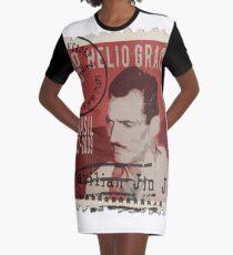 Helio Gracie Brazilian Jiu Jitsu BJJ Stamp Graphic T-Shirt Dress