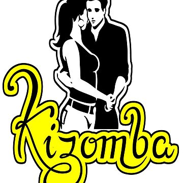 Kizomba - Couple Yellow With Black Outline by 108dragons