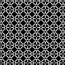 Black Clover Floral Digital Pattern Design by Guinevere Saunders