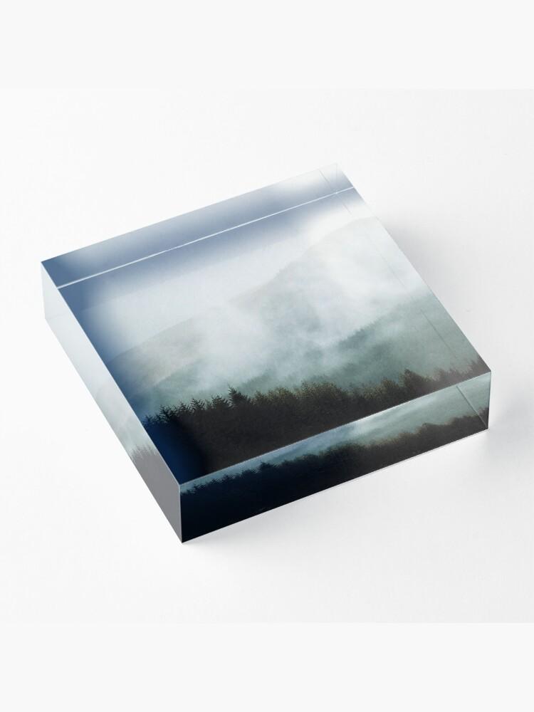 Bloc acrylique ''Brume hivernale dans les vallées': autre vue