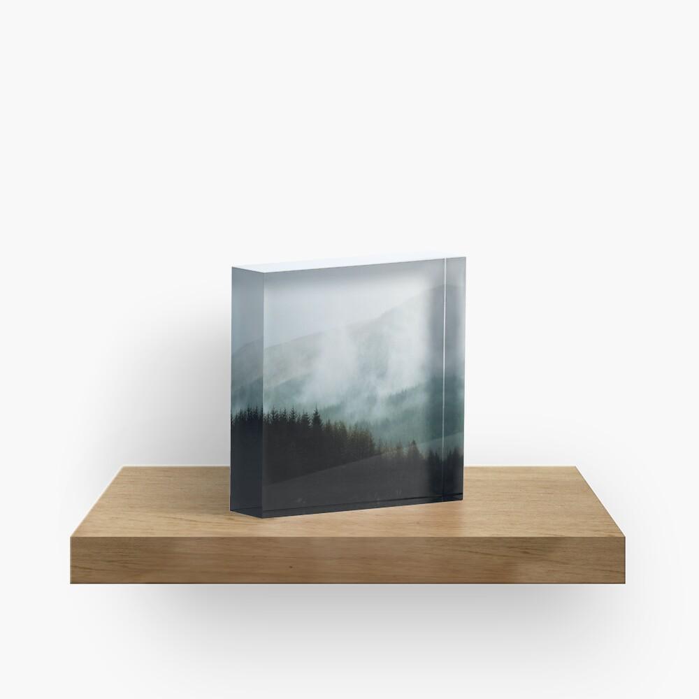 Bloc acrylique «Brume hivernale dans les vallées»