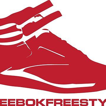 Reebok Freestyle Sneaker in Red #reebokfreestyle by Swaygo