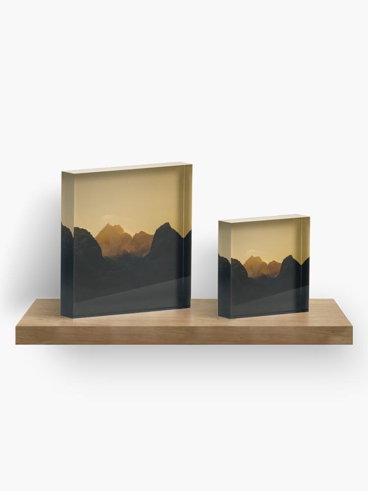 Bloc acrylique ''Coucher de soleil sur les Îles Lofoten en Norvège': autre vue