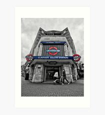 Clapham South Tube Station Art Print