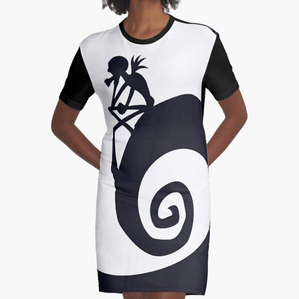 Nightmare Silhouette Graphic T-Shirt Dress