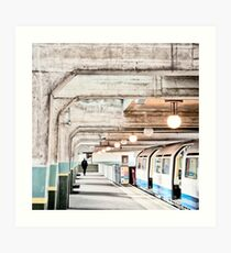 Cockfosters Tube Station Art Print