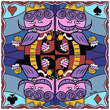 Four Kings by cartoonblog