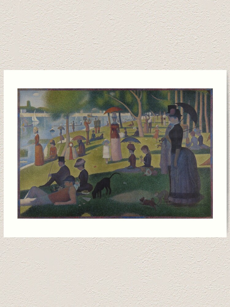 Georges Seurat A Sunday Afternoon On The Island Of La Grande Jatte Extra High Resolution Art Print By Strcn Redbubble