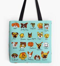 20 Dog Breeds Tote Bag
