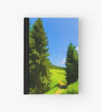 Impressions of Green Forests and Meadows Hardcover Journal