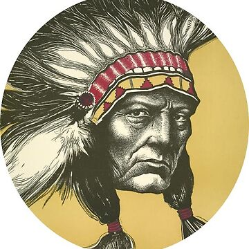 Native American Indian Chief Sticker by henrytheartist
