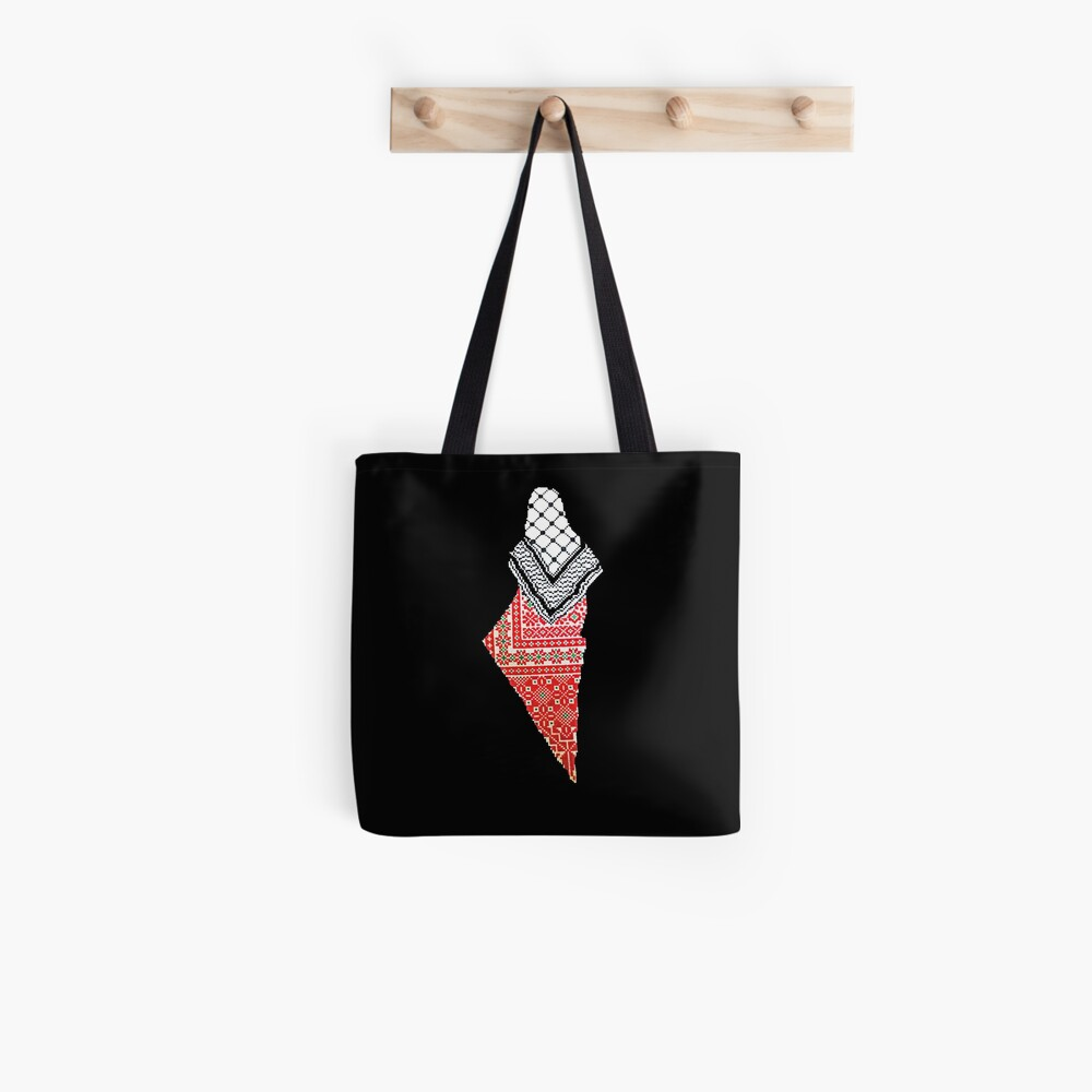 Embroidery Palestinian Map Tote Bag