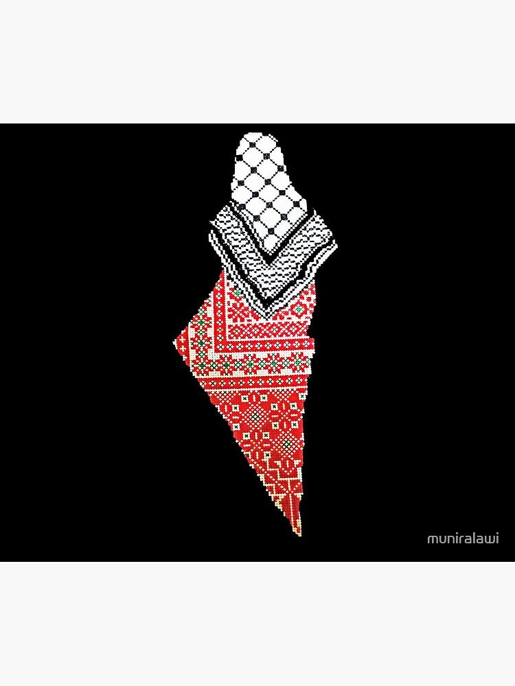Embroidery Palestinian Map by muniralawi