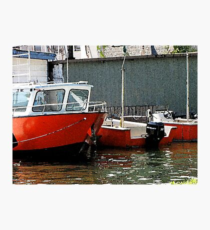 Three Red Boats Photographic Print