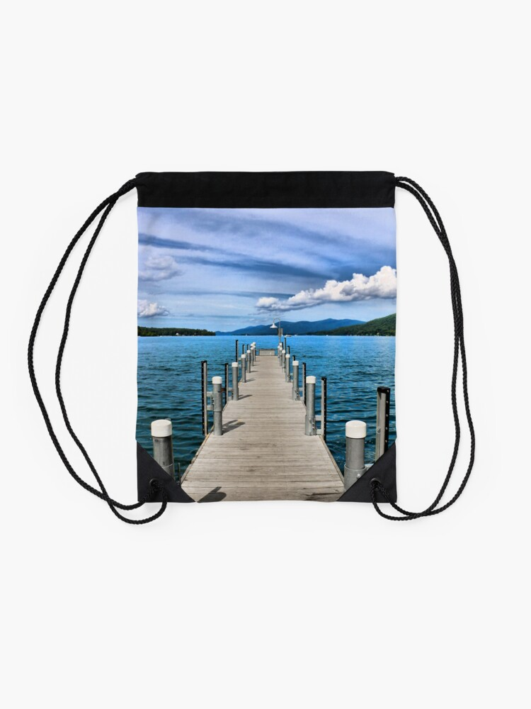 Alternate view of Stepping to the Sea Drawstring Bag