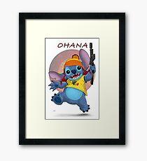 Ohana: Firefly/Stitch Mashup Framed Print