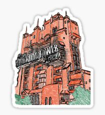 Hollywood Tower!  Sticker