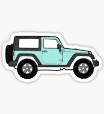 Pastell blauer Jeep Sticker