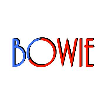 BOWIE, inspired design by a songwriter called David by Moorean