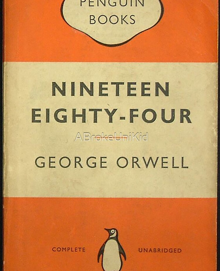 "1984 George Orwell penguin classics - book cover"" iPad Case & Skin by  ABrokeUniKid   Redbubble"