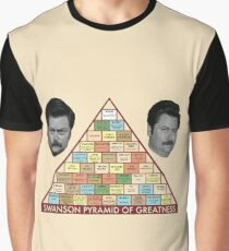 Ron Swanson's Pyramid of Greatness Graphic T-Shirt