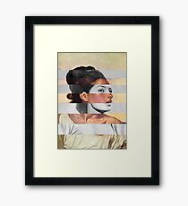 Delacroix's Orphan Girl at the Cemetery & Sophia Loren Framed Print