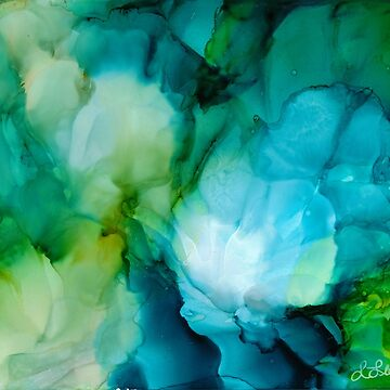 Teal Blooms by Wifeolano