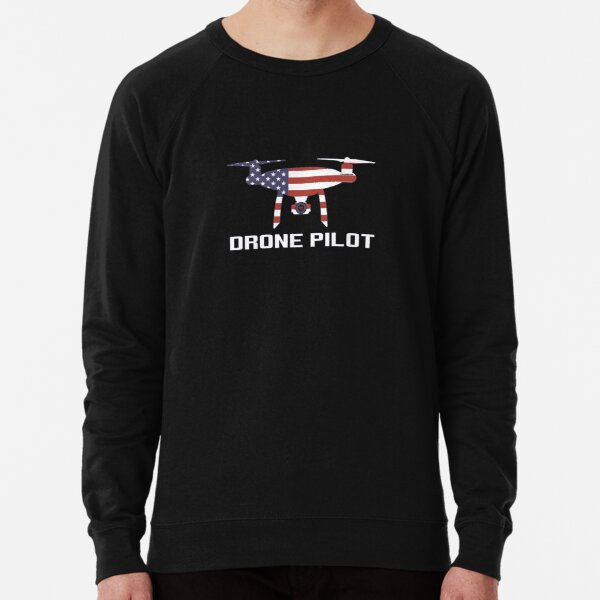 Piloto del abejón de la bandera de los EEUU Sudadera ligera
