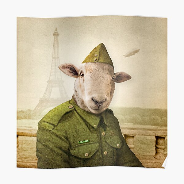 Private Leonard Lamb visits Paris Poster
