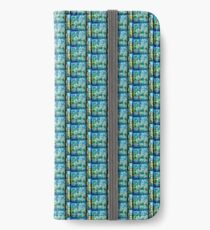 Abstract Landscape in Stained Glass  iPhone Wallet/Case/Skin
