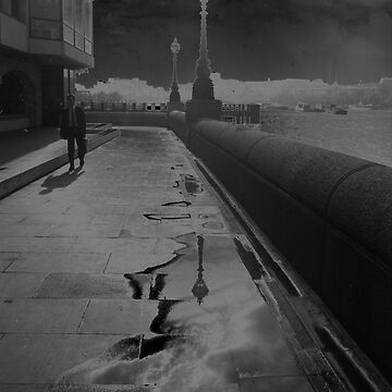 The Thames Embankment, Solarised, by Streetpages