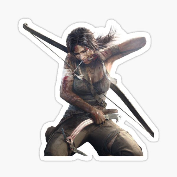 lara croft Sticker