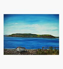 """View of Hog island, Cappa"" - Oil Painting Photographic Print"