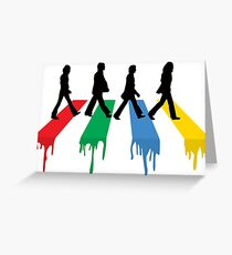 Beatles greeting cards redbubble abbey road colour beatles greeting card m4hsunfo
