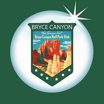 Bryce Canyon National Park Sticker by henrytheartist