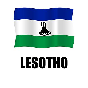 Lesotho flag word by stuwdamdorp